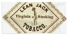 Beach Towel featuring the photograph Retro Tobacco Label 1867 A by Padre Art