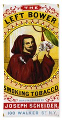 Retro Tobacco Label 1869 C Beach Sheet