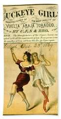 Beach Sheet featuring the photograph Retro Tobacco Label 1869 F by Padre Art
