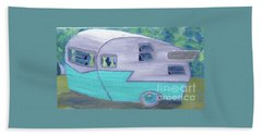 Retro Trailer Beach Towel