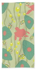Retro Turtles Beach Towel