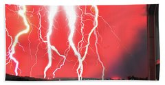 Lightning Apocalypse Beach Sheet