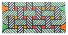 Beach Towel featuring the drawing Rfb1002 Variation I Diagonal by Robert F Battles