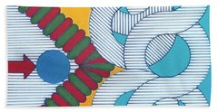 Beach Towel featuring the drawing Rfb1024 by Robert F Battles