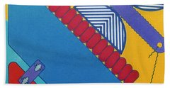 Beach Towel featuring the drawing Rfb1026 Diagonal by Robert F Battles