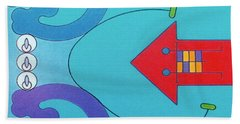 Beach Towel featuring the drawing Rfb1027 by Robert F Battles