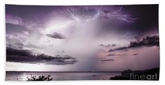 White Lightning Beach Towel