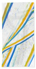 Beach Towel featuring the digital art Rhapsody In Leaves No 1 by Ben and Raisa Gertsberg