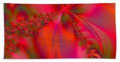 Rhapsody In Red Beach Towel by Robert ONeil