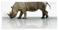 Rhinoceros Beach Towel by James Larkin