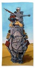 Rhinoceros Riders Beach Towel