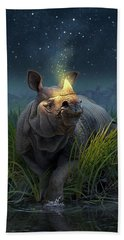 Rhinoceros Unicornis Beach Towel