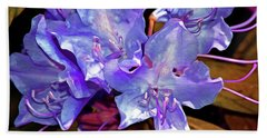 Rhododendron Glory 6 Beach Sheet by Lynda Lehmann