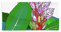 Rhododendron Graphic Beach Towel