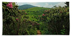 Rhododendron Road Beach Towel