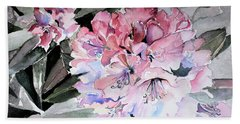 Rhododendron Rose Beach Towel