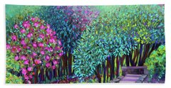 Rhododendrons In The Sunken Garden Beach Towel