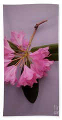 Rhododendrons Just A Twig Beach Towel by Rita Brown