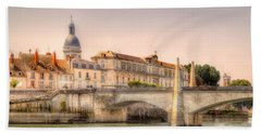 Bridge Over The Rhone River, France Beach Sheet