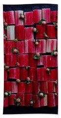 Rhubarb Wall Beach Towel