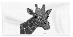 Rhymes With Giraffe Beach Sheet by Laura McLendon