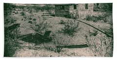Rhyolite Nevada Ghost Town Shack Beach Towel by Bartz Johnson