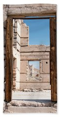 Rhyolite Through Windows Beach Towel