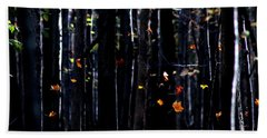 Beach Towel featuring the photograph Rhythm Of Leaves Falling by Bruce Patrick Smith