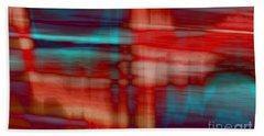 Rhythmic Stripes Beach Towel