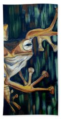 Beach Sheet featuring the painting Ribbit by Donna Tuten