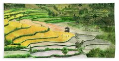 Ricefield Terrace II Beach Sheet by Melly Terpening