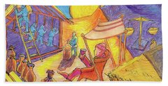 Rich Fool Parable Painting By Bertram Poole Beach Towel