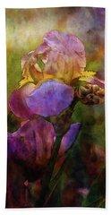 Rich Purple Irises 0056 Idp_22 Beach Towel
