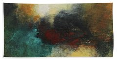 Rich Tones Abstract Painting Beach Towel