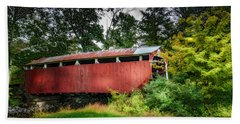 Beach Towel featuring the photograph Richards Covered Bridge by Marvin Spates