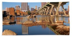 Beach Towel featuring the photograph Richmond And The James River by James Kirkikis