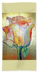 Beach Towel featuring the painting Richness by Eva Konya