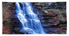 Ricketts Glen Waterfall 3941  Beach Towel
