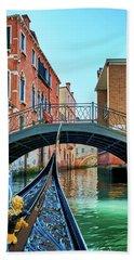 Ride On Venetian Roads Beach Towel