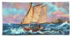 Ride The Wind And Waves Beach Towel