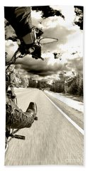 Ride To Live Beach Towel by Micah May