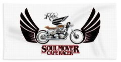 Ride With Passion Cafe Racer Beach Towel