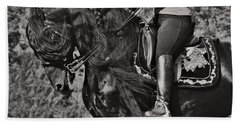 Beach Towel featuring the photograph Rider And Steed Dance D6032 by Wes and Dotty Weber
