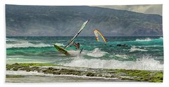 Beach Towel featuring the photograph Riders On The Storm by Susan Rissi Tregoning
