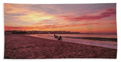 Riding Home Beach Towel by Roy McPeak