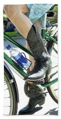 Riding In Style Beach Towel