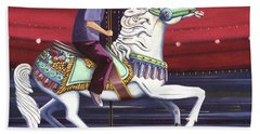 Riding The Carousel Beach Towel