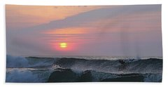 Riding The Second Wave Beach Towel
