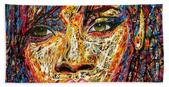 Rihanna Beach Towel by Angie Wright