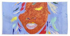 Rihanna Loud Beach Towel by Stormm Bradshaw